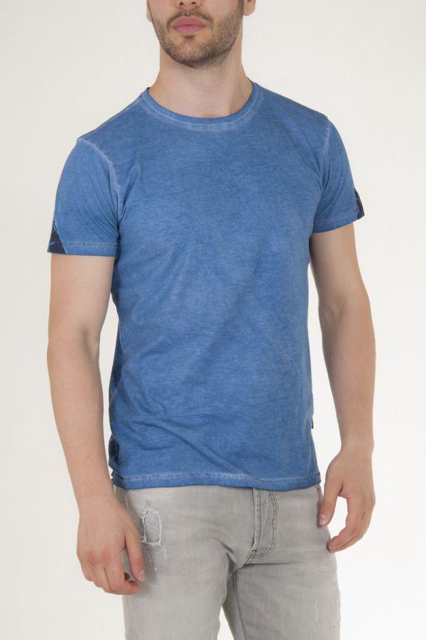 Μπλουζάκι κοντομάνικο μπλε του ουρανού πετροπλυμένο αντρικό sorbino