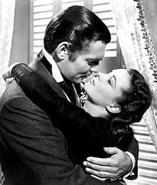Clark Gable and Vivien Leigh in Gone with the Wind, 1939.