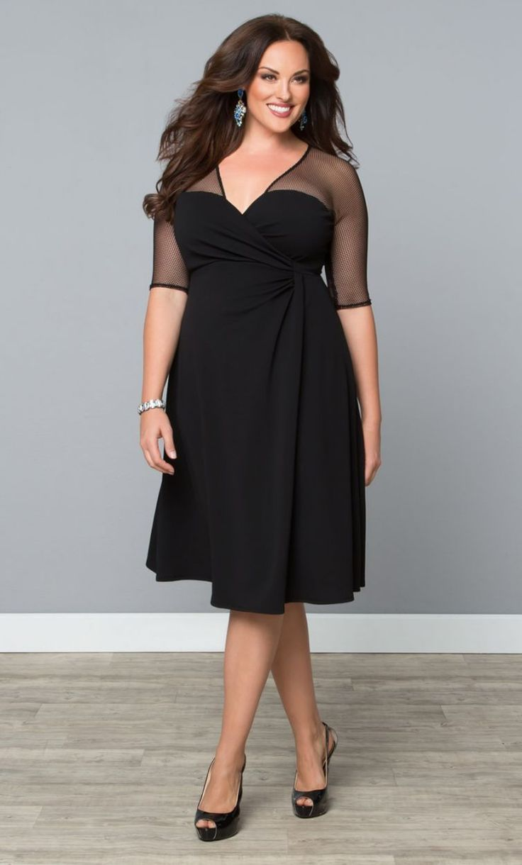 Black and bronze dress cocktail plus size