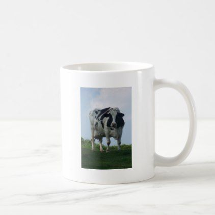 Vermont  Black and White Dairy Cow Coffee Mug - animal gift ideas animals and pets diy customize