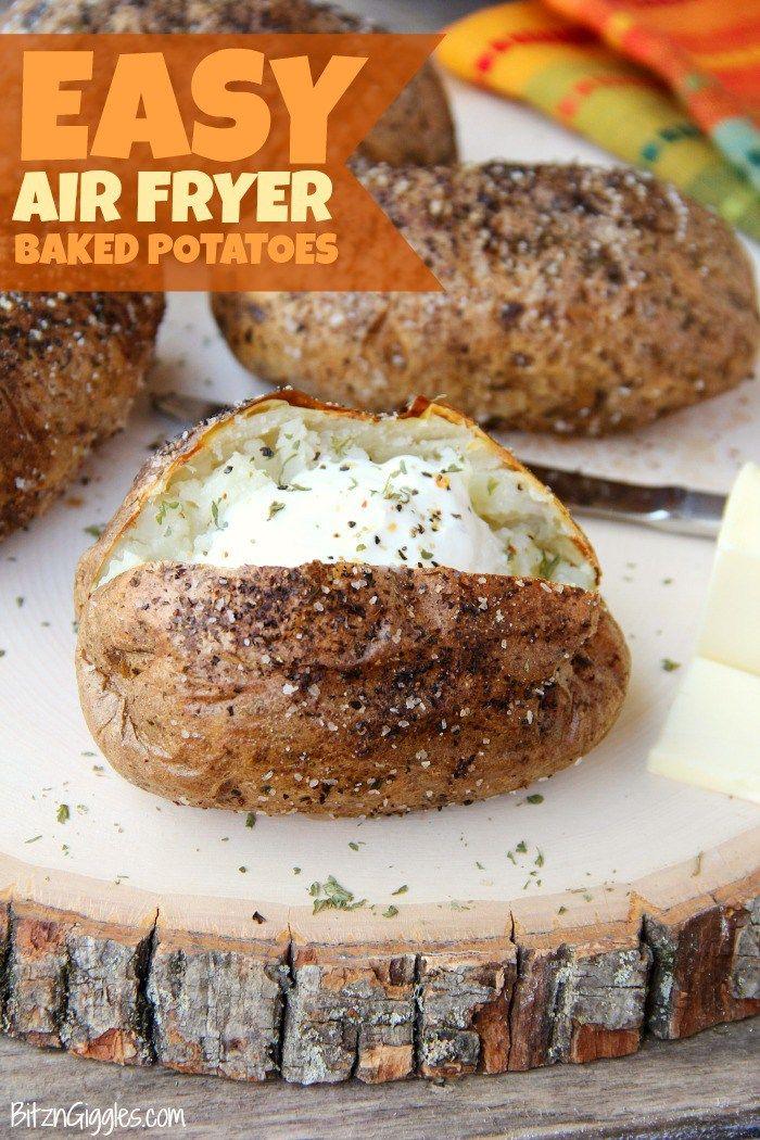 Easy Air Fryer Baked Potatoes Recipe Air Fryer Baked Potato Air Fryer Oven Recipes Air