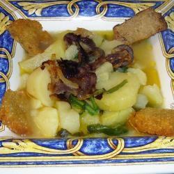 Zuppa di patate con la rucola