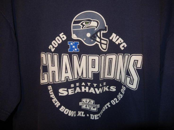 Men's Seattle Seahawks 2005 NFC Champions T-shirt Super Bowl XL 12th Man #LeeSport #SeattleSeahawks