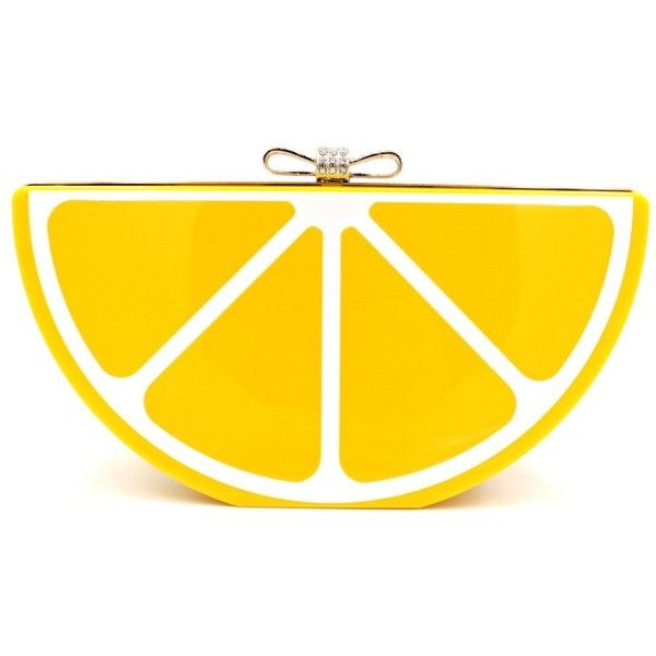 Jasmine15 Women Acrylic Lemon Costume Party Evening Clutch Bag Fashion... ($19) ❤ liked on Polyvore featuring bags, handbags, clutches, party purses, yellow clutches, lucite purse, handbag purse and party clutches