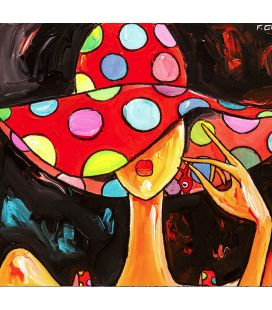 Reproduction Toile 40x40 Chapeau Rouge