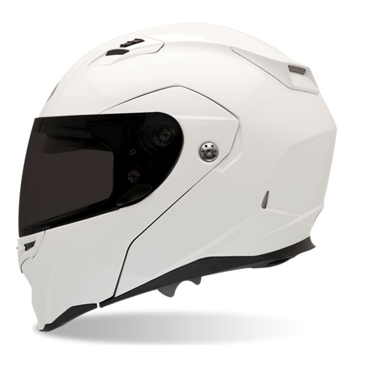 Bell Revolver Evo motorcycle helmet  (2012) – It's hard to find good looking helmets. This one keeps it classy but uses some edgy lines to be modern instead of retro. #White #Motorcycle #Helmet