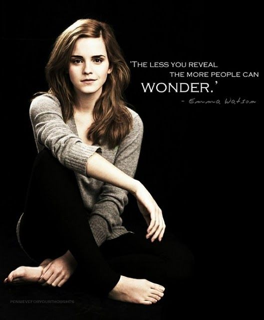 smart girl, Emma. Modesty is the best policy, IMHO.