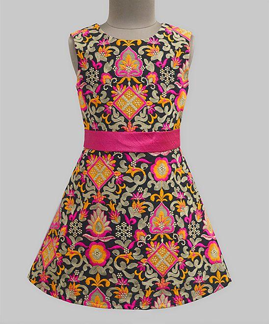 Taj Floral Ribbon Grace Dress - Infant Toddler & Girls