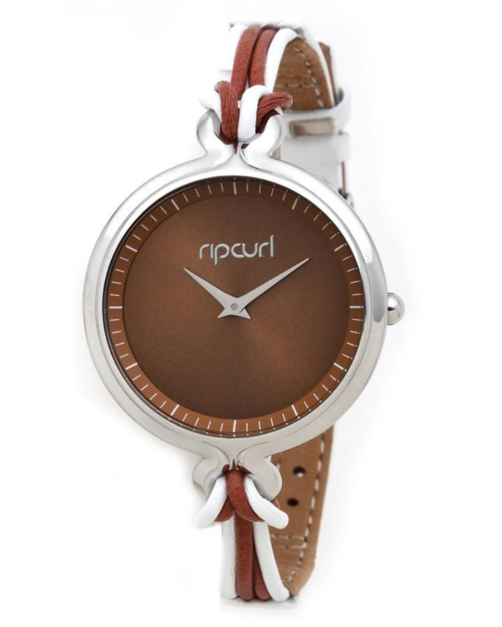 Rip Curl CALI TAN Leather Band Womens Ladies Waterproof Surf Watch BNIB Gift I WANT!!!!