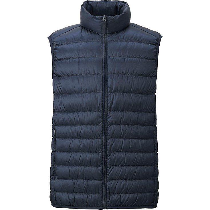 Men's Ultra Light Down Vest, BLACK - Size L