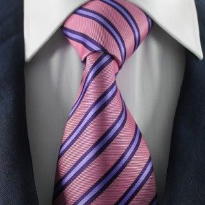 Purple Striped Neckties / Formal Business Neckties.