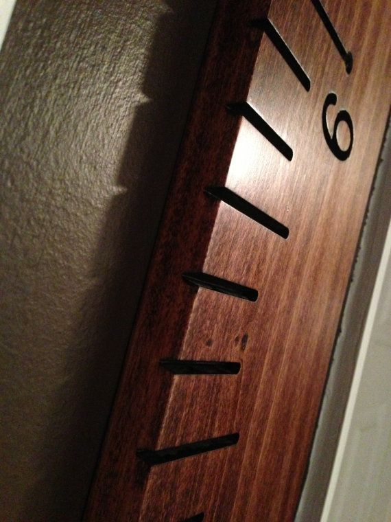 Hand Routed Wooden Ruler Growth Chart Great For Measuring