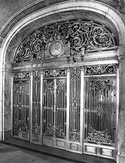 The lost beauty of old Detroit - The Farwell Building's exquisite elevator doors - which have long since been scrapped.