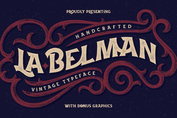 La Belman font + bonus by Gleb Guralnyk on @creativemarket