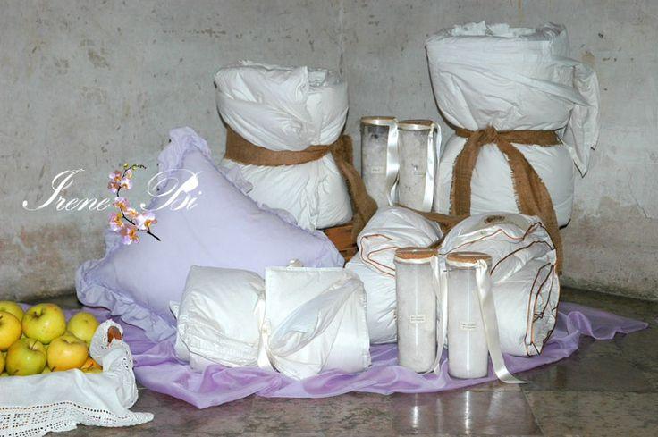 IRENE BI Particolare della piuma utilizzata per  confezionare i piumini www.irenebi.it realizzazione Irene Bi di Irene Brigolin