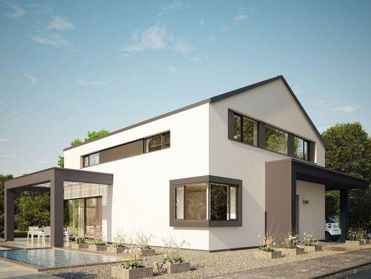 Ber ideen zu satteldach auf pinterest kohaus for Satteldach modern neubau
