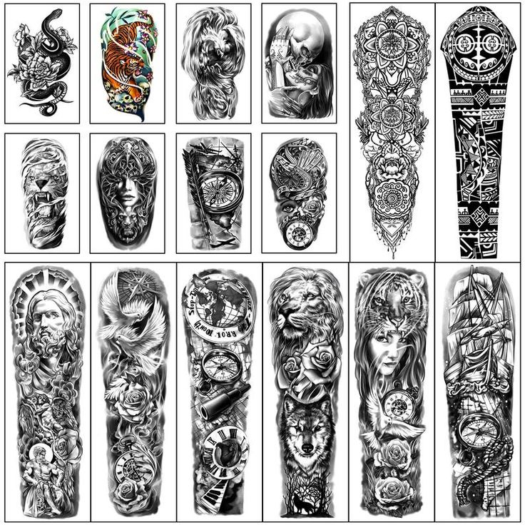 Waterproof Full Arm Temporary Tattoos 8 Sheets and Half Arm | Etsy Half Sleeve Tattoo Stencils, Half Arm Sleeve Tattoo, Fake Tattoo Sleeves, Half Sleeve Tattoos For Guys, Temporary Tattoo Sleeves, Best Sleeve Tattoos, Shoulder Tattoo, Full Leg Tattoos, Full Tattoo