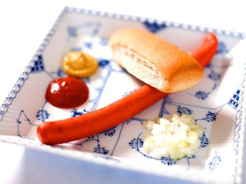 The classic Danish red hotdog. Plate from Royal Copenhagen. #allgoodthings #danish