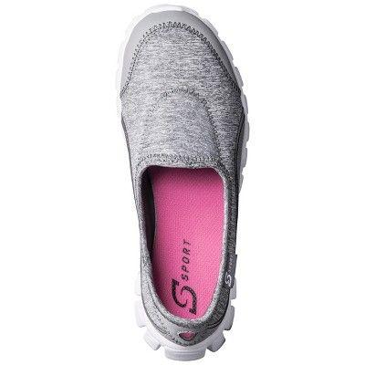 Women's S Sport Designed by Skechers Slip on Sneaker - Gray 5.5