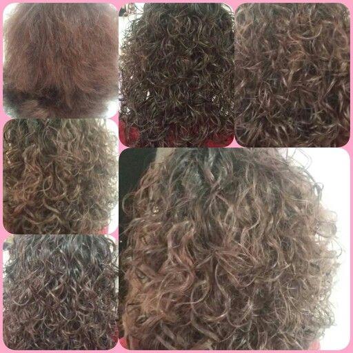 Boyalı saç perma