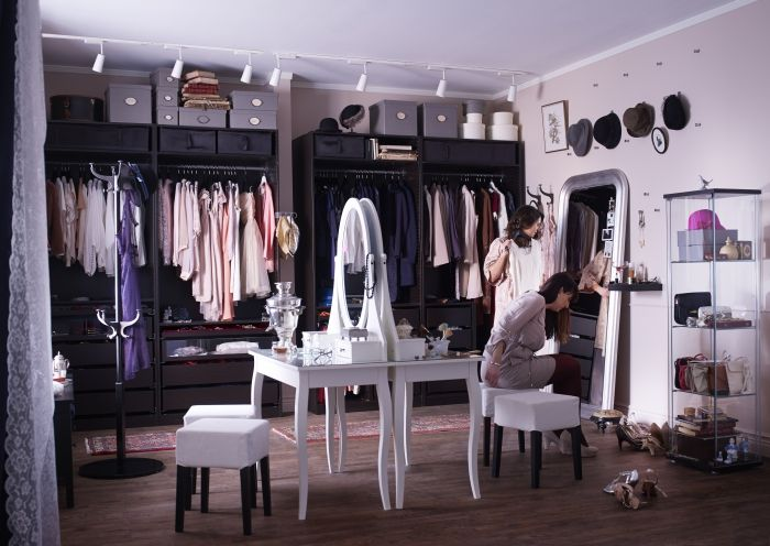 An entire room that's a wardrobe - honestly, this is paradise, right?