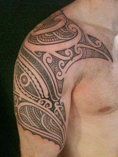 Maori tribal tattoo and maori tribal arm tattoos