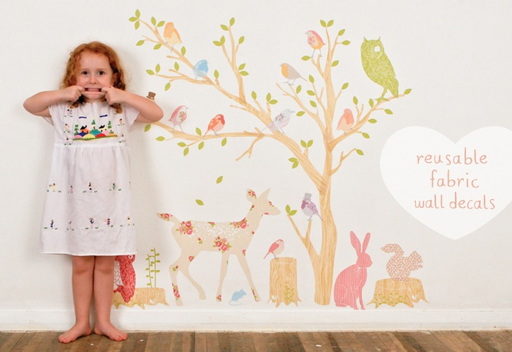 Reusable, Fabric Wall Decals for Children