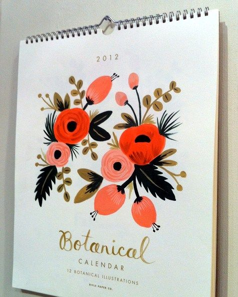 i have such a soft spot for beautiful calendars!