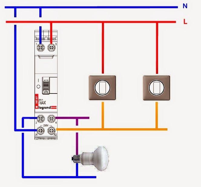 Télérupteur Bipolaire Legrand Schéma De Câblage électrique Schéma électrique Electricité Schema