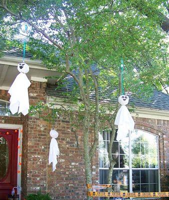 decoracion halloween fantasmas