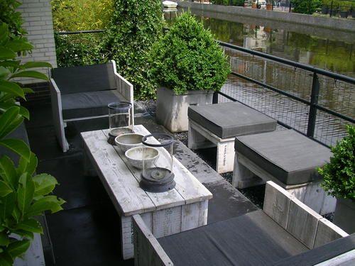 Weathered garden furniture