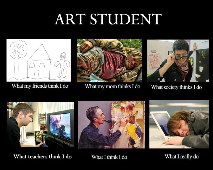Art Student Meme Truth In Advertising Pinterest