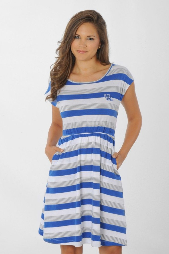 C-A-T-S!! Now on sale to celebrate March Madness!! Kentucky Wildcats Striped Sundress - University Girls Apparel