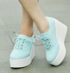 Online Shop 2015 nueva otoño floral zapatos de lona plataforma plataforma zapatos casuales atan mujeres de ultra altos talones mujeres zapatillas de deporte|Aliexpress Mobile