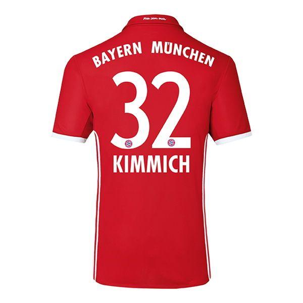 Joshua Kimmich #32 Bayern Munich 2016 Authentic Home Soccer Jersey