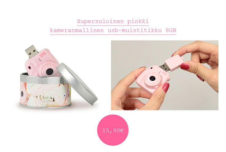 PINK CHERI usb memory stick 8gb plasticcameras.fi