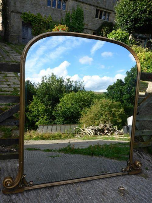 Impressive Large Victorian Over Mantle Mirror