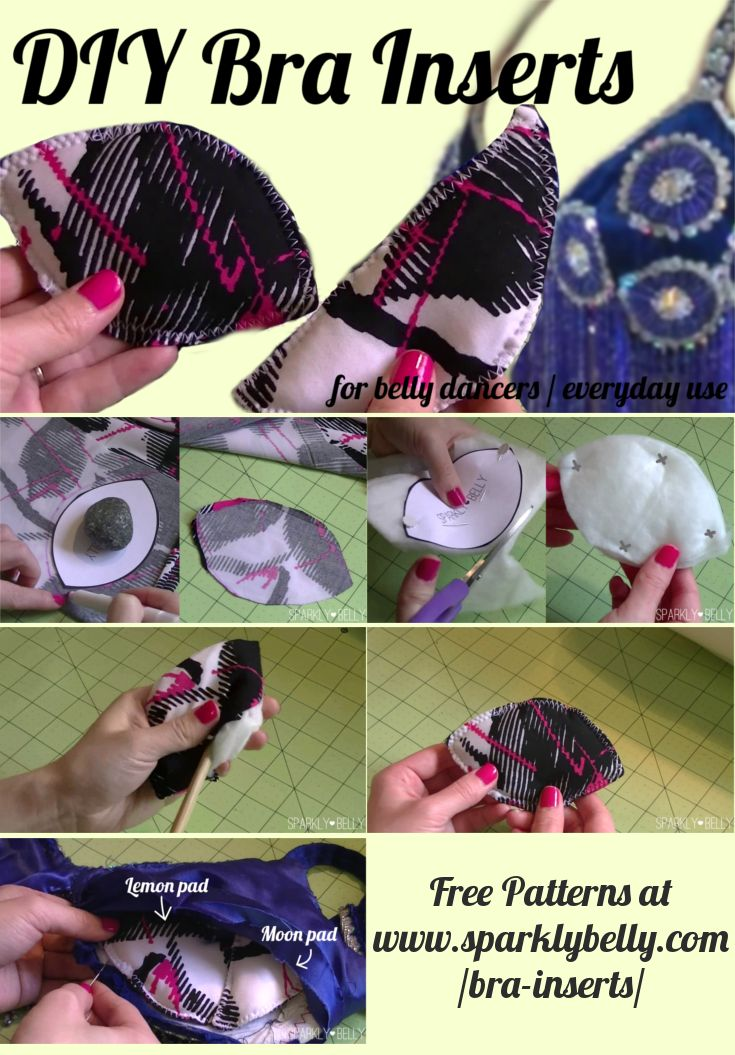 Diy Bra Inserts Bra Pads For Belly Dancers And Everyday Use