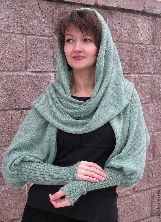 """Купить Свитер-шарф """"Виолетта"""" - однотонный, свитер, женский свитер, свитер женский, шарф"""