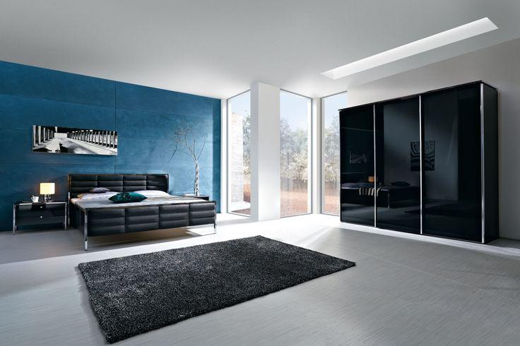 Schlafzimmer-Set Trenta 4-teilig in Hochglanz schwarz von Nolte Delbrück - Polstermöbel, Lederpflege, Meise Möbel & Dico Betten - Möbelhaus Remer