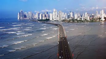 "Expressway ""Corredor Sur"" from Tokumen airport to the heart of Panama City."