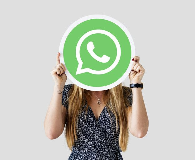 Download Woman Showing A Whatsapp Messenger Icon For Free Social Media Icons Icon Marketing