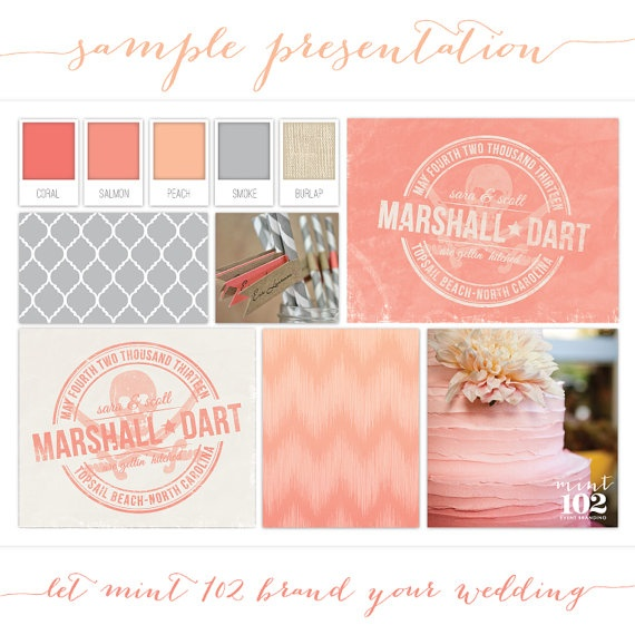 Brand your wedding with a Custom Wedding Logo Design by Mint102 on Etsy