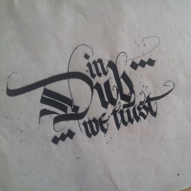 By Martynov Andrey Remrk Gothic Calligraphy