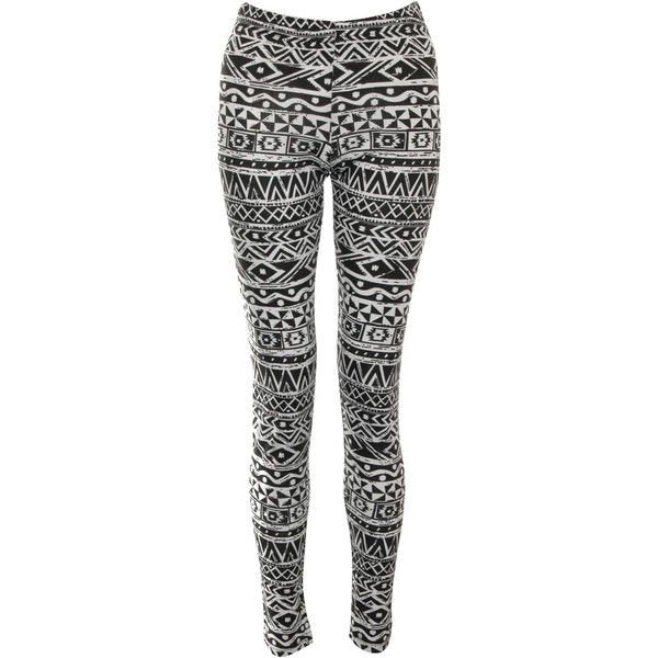 Rare London Aztec Print Leggings (24 CAD) ❤ liked on Polyvore featuring pants, leggings, bottoms, jeans, calças, aztec-print pants, rare london, aztec-print leggings, cotton leggings and aztec patterned leggings