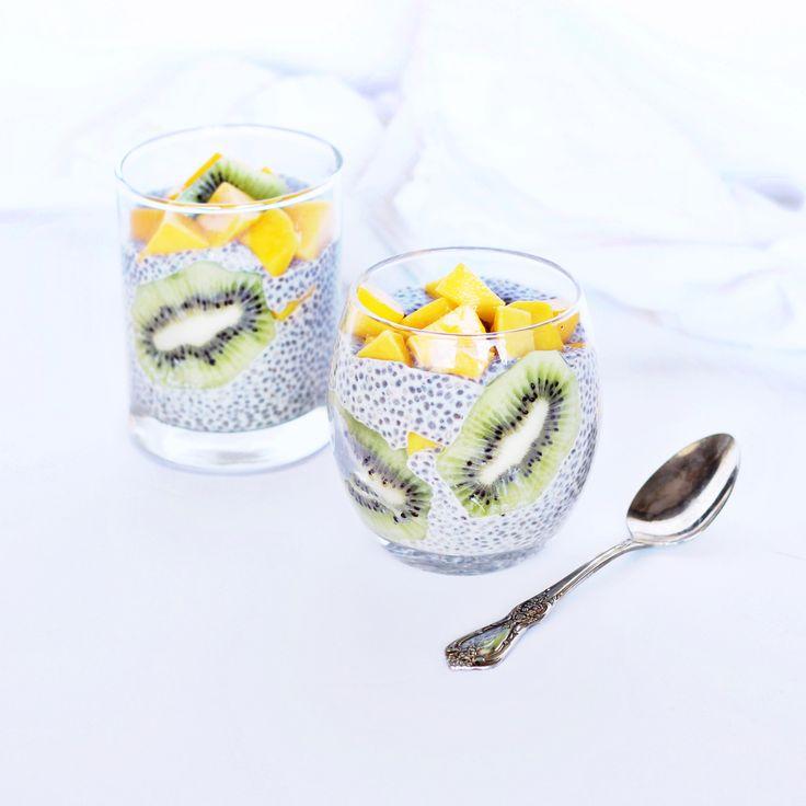 kiwi mango chia pudding