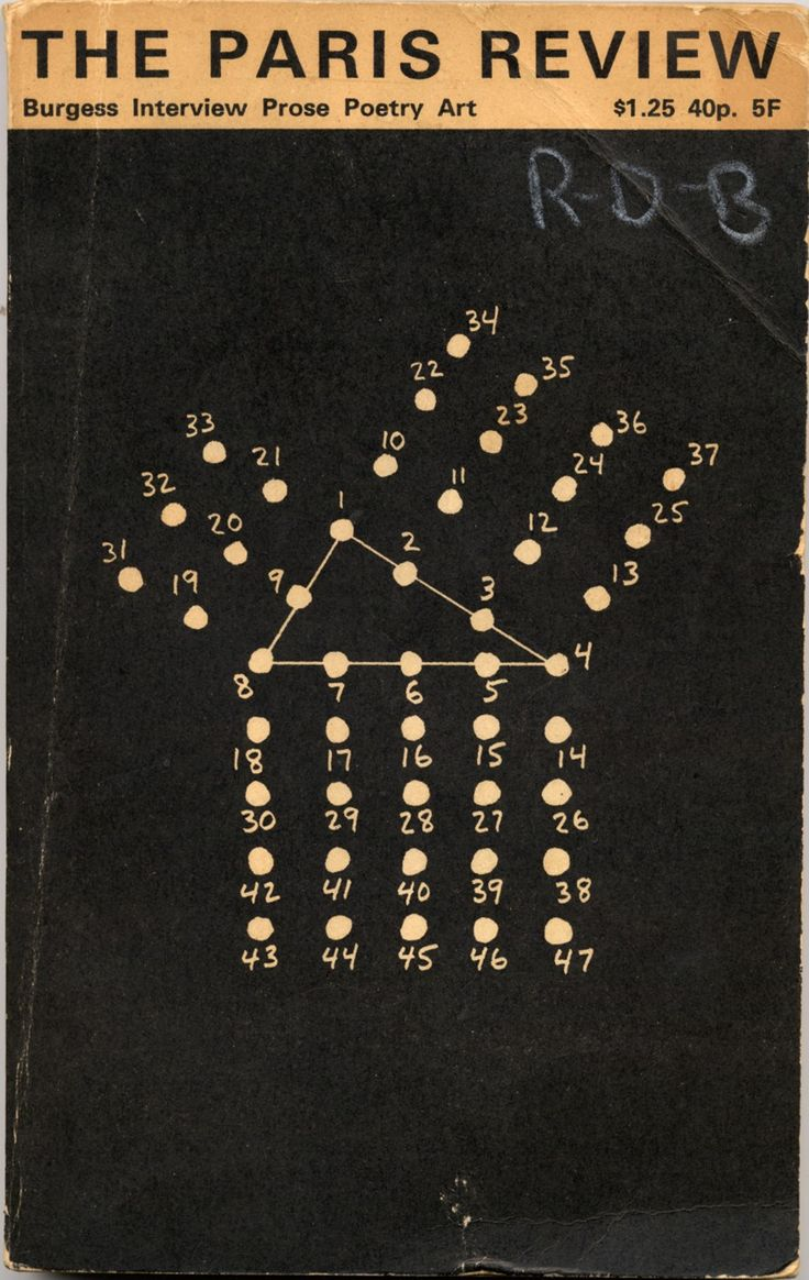 MEL BOCHNER COVER. the paris review, 1973