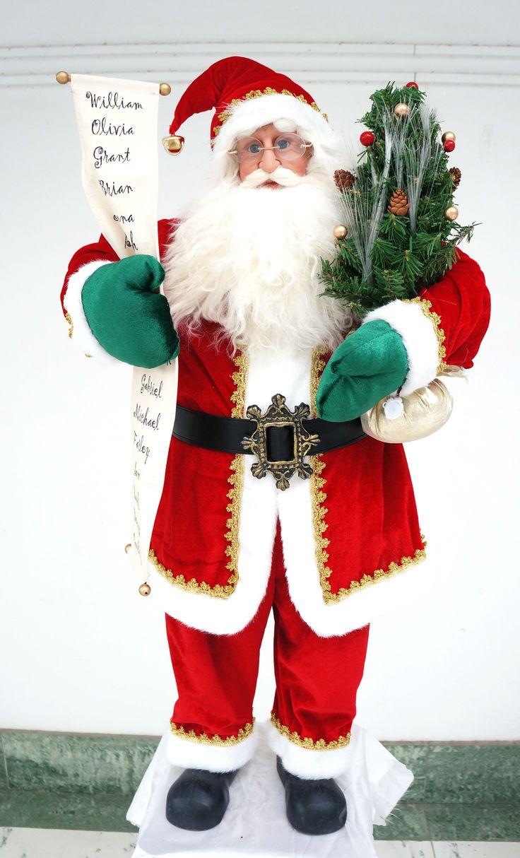 3FT Santa Claus with Names list and Fibre Optic Tree  http://www.christmascomplete.com.au/Santa-3-Ft-ith-Fibre-Optics_p_1181.html