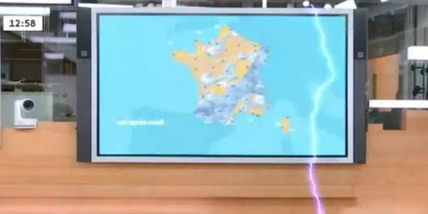 La foudre s'invite en plein bulletin météo (VIDEO)