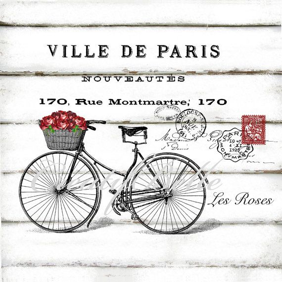 This is a digital download French Bicycle Digital download in 300dpi High…